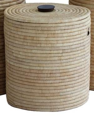 Wonderful Liten kurv med lokk i natur - Savannen Interiør AS ER-33