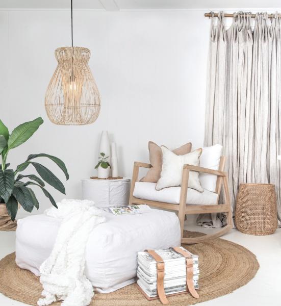 indah lampe i natur flettet Savannen Interiør AS